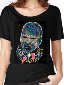 Voodoo Portrait with ethnic ornaments Women's Relaxed Fit T-Shirt