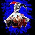 Harlequin Psychedelic - blue by Bela-Manson