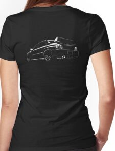 Fast cars under the spotlight Womens Fitted T-Shirt