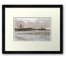 Central Pier Blackpool in Oils Framed Print