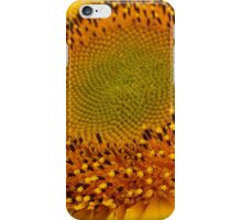 middle of sunflower iPhone Case/Skin