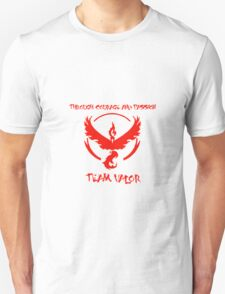 Team Valor Through Courage and Passion Pokemon Go Merchandise Unisex T-Shirt