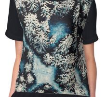 Snow Covered Forrest Chiffon Top