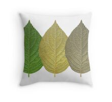 Leaf Getting Old Throw Pillow