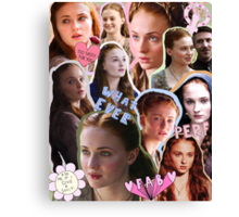 Sansa Stark, practically perfect in every way Canvas Print