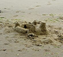 As Temporary As Sand Castles... Oregon Coast...Waldport by Diane Arndt
