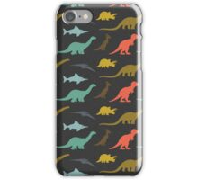 Dinosaurs silhouettes iPhone Case/Skin