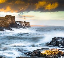 Porthcawl Lighthouse at Sunset, Wales. UK by Heidi Stewart