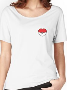 POKEBOLA HEART POKEMON GO Women's Relaxed Fit T-Shirt
