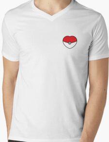 POKEBOLA HEART POKEMON GO Mens V-Neck T-Shirt