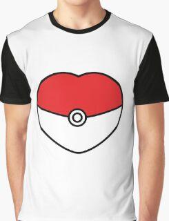 POKEBOLA HEART POKEMON GO Graphic T-Shirt