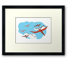 Pterodactyl Flying Squadron Framed Print