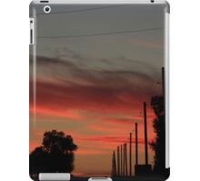 COUNTRY ROAD BLAZING RED SUNSET WITH CLOUD'S AND ROAD iPad Case/Skin