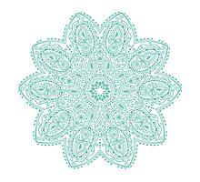 Bohemian Mandala Teal by serenityspagift