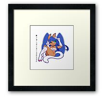 Even a catgirl will do ^OvO^ Framed Print