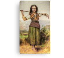 The Shepherdess - HDR Canvas Print
