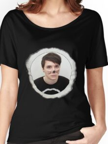 Danisnotonfire Whiskers Eclipse Shirt Women's Relaxed Fit T-Shirt