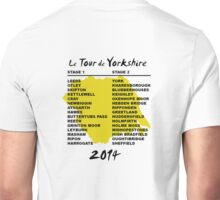 Le Tour de Yorkshire 2014 Back Unisex T-Shirt