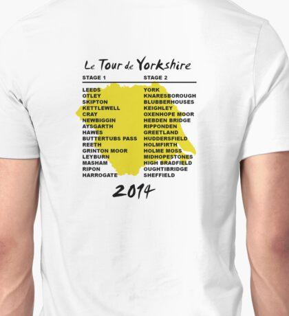 Le Tour de Yorkshire 2014 Back Unisex T-Shirt