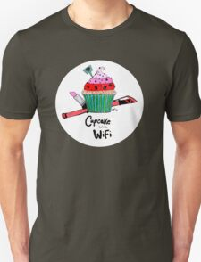 Cupcake with WiFi Unisex T-Shirt