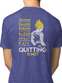 Never Quit - Vegeta Tri-blend T-Shirt