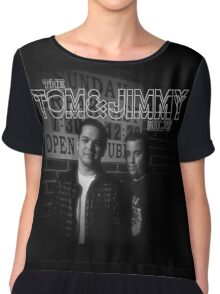 The Tom And Jimmy Show (Sunday Breakfast Design) Chiffon Top