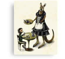 Kangaroo cafe Canvas Print