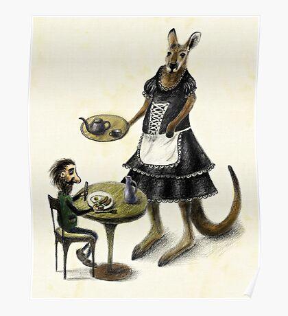 Kangaroo cafe Poster