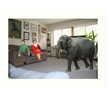 I know you always avoid conflict, but seriously, we really should address the elephant in the room. Art Print