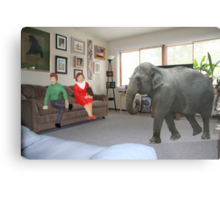 I know you always avoid conflict, but seriously, we really should address the elephant in the room. Metal Print