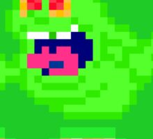 """I've Been Slimed"" Pixels Sticker"