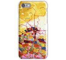 Abstract Map, acrylic painting iPhone Case/Skin