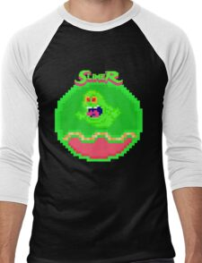 """I've Been Slimed"" Pixels Men's Baseball ¾ T-Shirt"