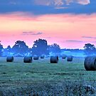 Dawn on the Hayfield by bannercgtl10