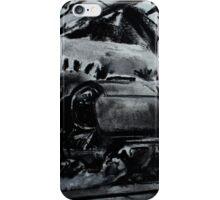 Steam Train Snow Hill Station Birmingham England Charcoals iPhone Case/Skin
