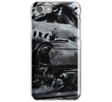 Steam Train Snow Hill Station Birmingham England Charcoals iPhone Case/Skin