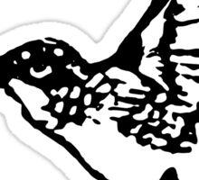 HUMMINGBIRD - BLACK AND WHITE Sticker