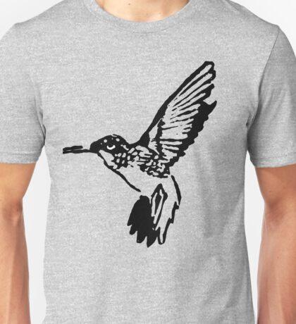 HUMMINGBIRD - BLACK AND WHITE Unisex T-Shirt