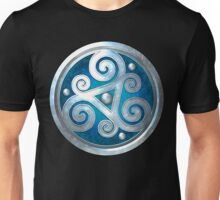 Blue Double Celtic Triskelion Unisex T-Shirt