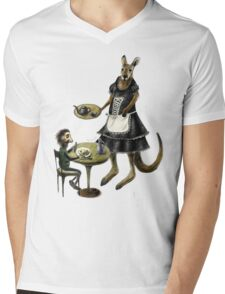 Kangaroo cafe Mens V-Neck T-Shirt