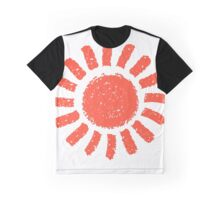 Red Summer Sun Graphic T-Shirt