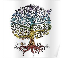Floral tree beautiful, summer Poster