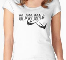 On a wire Women's Fitted Scoop T-Shirt