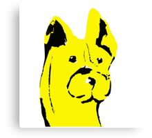 The curious case of a yellow dog Canvas Print