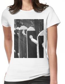 Snow Caps  Womens Fitted T-Shirt
