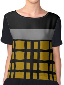Styling With Gold, Silver And Black Chiffon Top