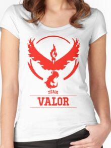 Pokemon Go : Team Valor Women's Fitted Scoop T-Shirt