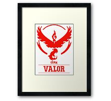 Pokemon Go : Team Valor Framed Print
