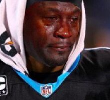 Crying Jordan (Cam Newton) Sticker