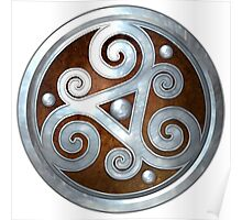 Brown Double Celtic Triskelion Poster